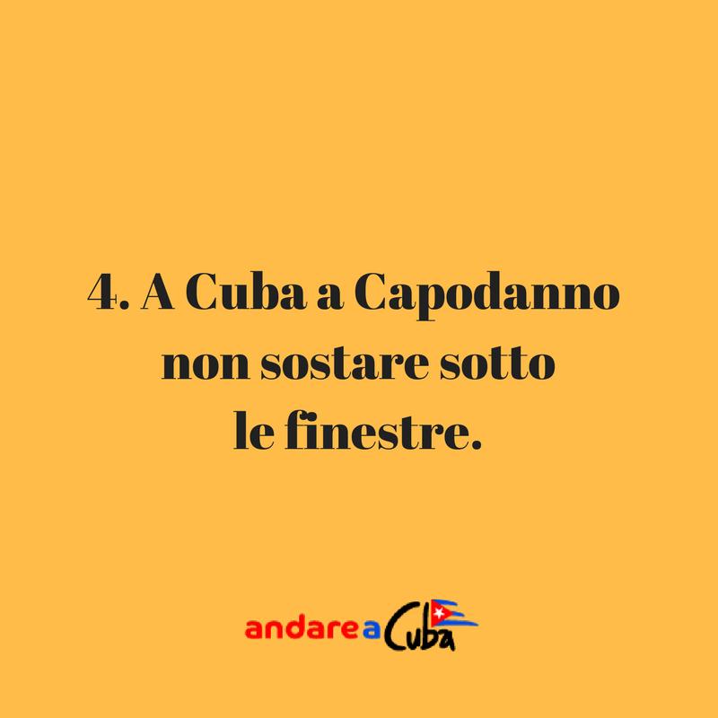Consigli su Cuba: a Cuba a Capodanno non sostare sotto le finestre